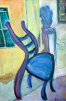 Whimsical Chair Oil on Canvas