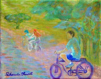 Kids on a Bicycle Path