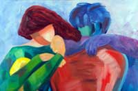 Best Friends Oil on Canvas