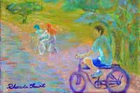 Bicycle Path Oil on Canvas