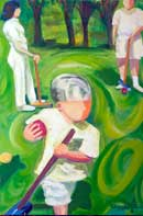 Croquet Oil on Canvas