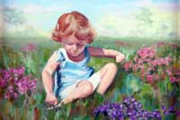 In the Meadow Oil on Canvas