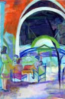 Outdoor Brunch Oil on Canvas