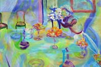 Setting the Table Oil on Canvas