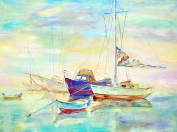 Boats in a Calm Bay