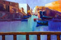 Beyond the Railing Oil on Canvas