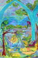 Dancing in the Woods Oil on Canvas