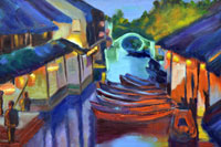 Canal Oil on Canvas