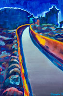 The Long Road Oil on Canvas