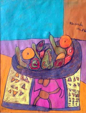 Apples, Pears and Oranges pastels