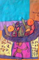 Apples, Pears and Oranges Pastel